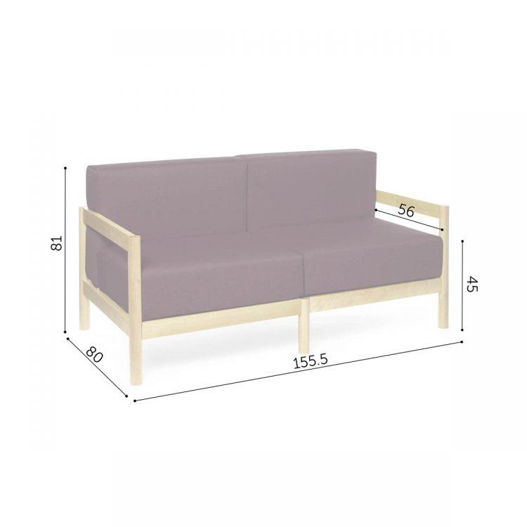 2-seater rahu sofa dimensions
